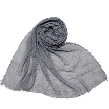 Stole For Women - Plain Premium Cotton Hijab - Grey