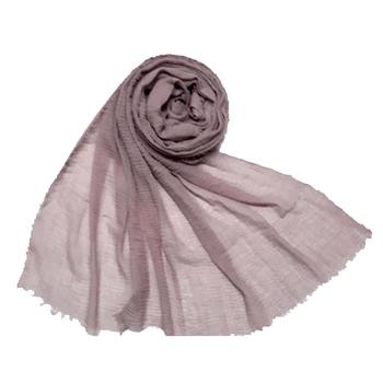 Stole For Women - Plain Premium Cotton Hijab - Purple