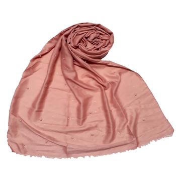 Stole For Women - Diamond Studed Designer Cotton Glitter Stole - Orange