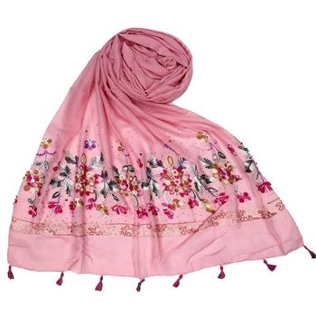Stole for Women Choice  Premium Diamond Ari 100 % Cotton Women's Stole  Pink