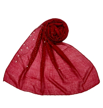 RESTOCKED  BEST SELLER BACK IN STOCK  Premium Cotton Rain Drop Hijab  Maroon