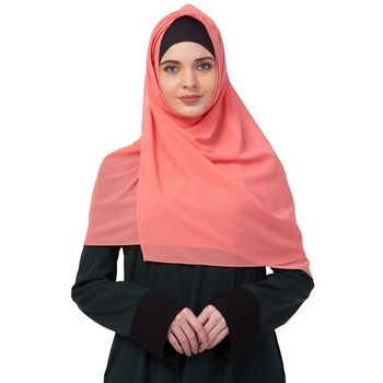 Premium Rich Chiffon   Best For All Season's  Hijabs That Don't Slip  Premium Plain Chiffon Hijab  Orange