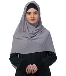 Premium Rich Chiffon   Best For All Season's  Hijabs That Don't Slip  Premium Plain Chiffon Hijab  Grey
