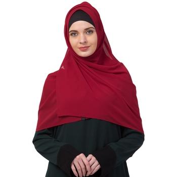 Premium Rich Chiffon   Best For All Season's  Hijabs That Don't Slip  Premium Plain Chiffon Hijab  Maroon