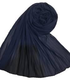 New Launch   : Chiffon   Quality On Point  Pleated Chiffon Hijab  Blue