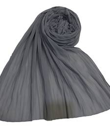 New Launch   : Chiffon   Quality On Point  Pleated Chiffon Hijab  Grey
