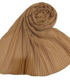 New Launch   : Chiffon   Quality On Point  Pleated Chiffon Hijab  Brown