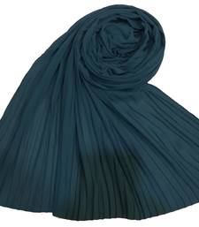 New Launch   : Chiffon   Quality On Point  Pleated Chiffon Hijab  Green