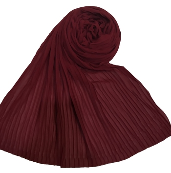 New Launch   : Chiffon   Quality On Point  Pleated Chiffon Hijab  Maroon