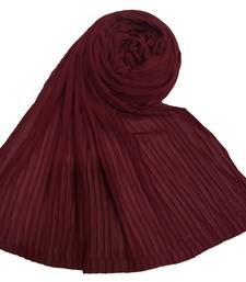 New Launch   : Chiffon   Quality On Point  Pleated Chiffon Hijab  Maroon