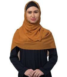 Georgette   Diamond Studed All Over The Hijab  Gold Diamond Over The Side's Of The Hijab  Yellow