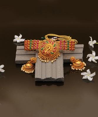 Antique Gold Choker Necklace Set