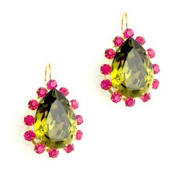Designer Swarovski Drop 18k Gold plated Earrings
