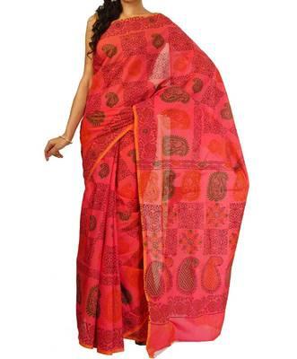 Chanderi Fancy Printed Pallu Saree