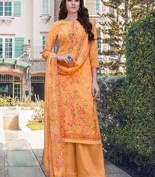 Orange embroidered georgette salwar