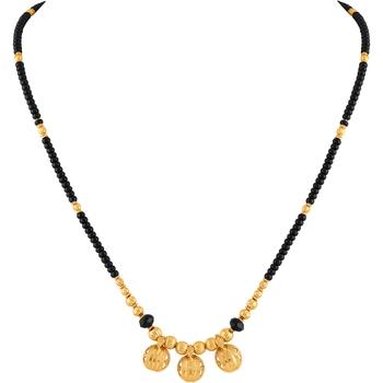 Asmitta Traditional 3 Wati Gold toned Mangalsutra For Women