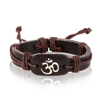 Asmitta Om Leather Bracelet For Men
