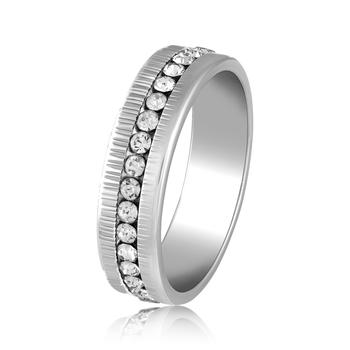 Asmitta Attractive Rhodium toned  Finger Ring For Men