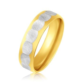 Asmitta Two tone Finger Ring For Men