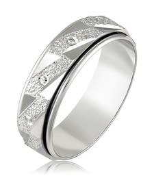 Asmitta Graceful Rhodium toned Finger Ring For Women