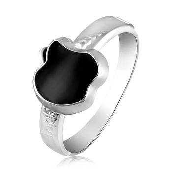Asmitta designer Apple Shape Silver toned Finger Ring For Women