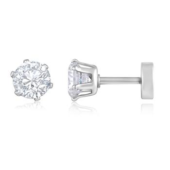 Asmitta Daily Wear Silver toned Stud Earring For Men