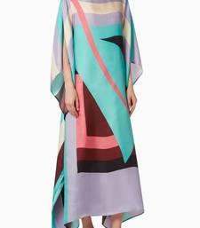 JSDC Lounge Wear Digital Printed Crepe Kaftan for Women