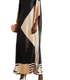 JSDC Women Long Ankle Length Satin Silk Printed Kaftan
