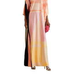 Digital Printed Long Satin Silk Casual Wear Women Kaftan Kurtas