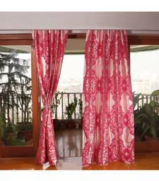 Pink 100% Polyester  curtain