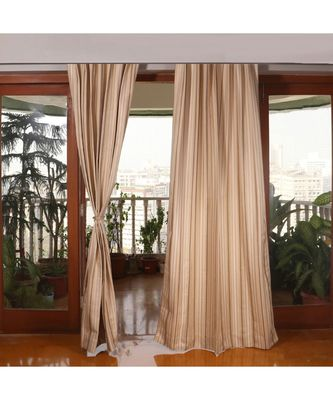 Beige 100% Polyester  curtain