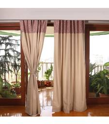 Beige 100% Cotton curtain