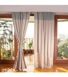 Grey Green Cotton & Polyester curtain