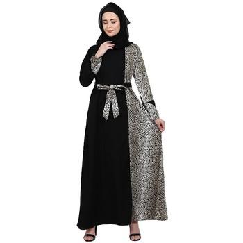 Animal printed dual colored casual abaya