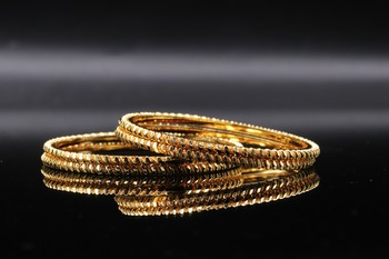 Gold Plated Bangles Set Of 4