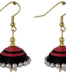 Buy red and black jhumkas jhumka online