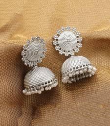 Silver Plated  Jhumkas
