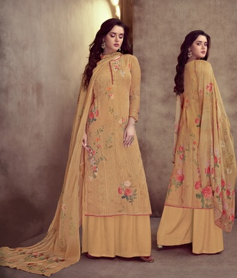 orange viscose  wedding-salwar-kameez Palazzo party-wear-salwar-kameez