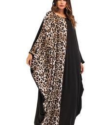 JSDC Long Animal Printed Organic Jersey Fabric Women Abaya