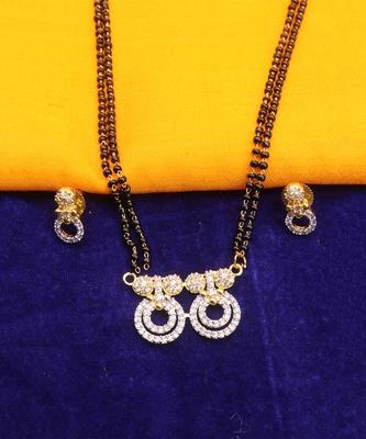 America Diamond Pendant Mangalsutra