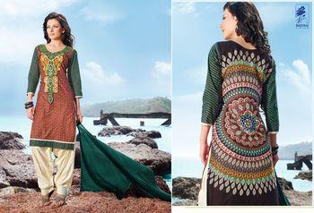 Designer Dress Material Jadui 3004