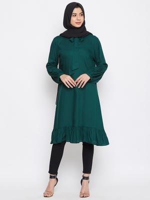 Green plain rayon islamic-tunics