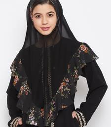 Multicolor plain georgette hijab