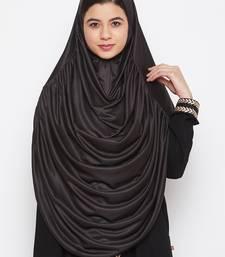 Black  plain jersey hijab