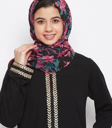 Multicolor printed georgette hijab