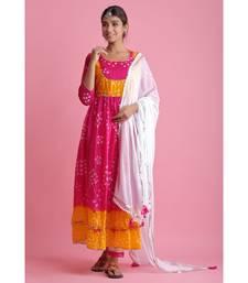Pink Chiffon ethnic kurtis