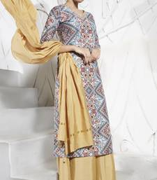 Multicolor embroidered polyester salwar