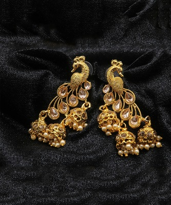Fancy Gold Plated Jhumki Earring For Women