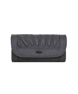 Grey LEATHER WALLET FOR WOMEN