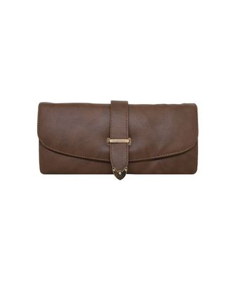 Brown LEATHER WALLET FOR WOMEN